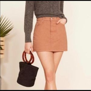 "Reformation ""Autumn"" Denim Mini Skirt"